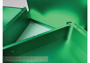 Aluminium Machining with Perfect Green Anodizing