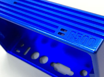 CNC Machining - Blue Anodizing